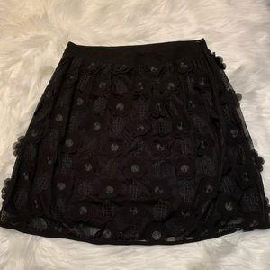 Alya black floral skirt, size medium